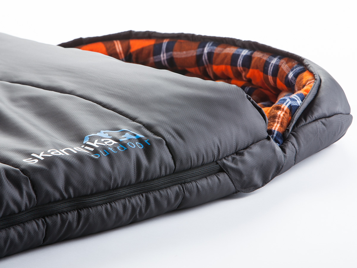 SKANDIKA LAPPLAND HIGH-END MUMMY SLEEPING BAG 220x80 -25°C ...