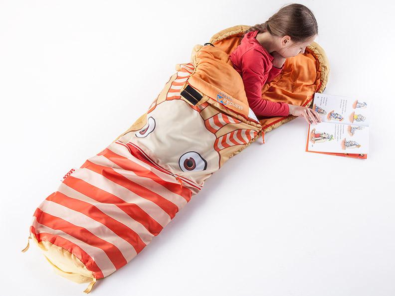 skandika sorgenfresser saggo schlafsack f r kinder 170 cm 12 c packsack neu. Black Bedroom Furniture Sets. Home Design Ideas