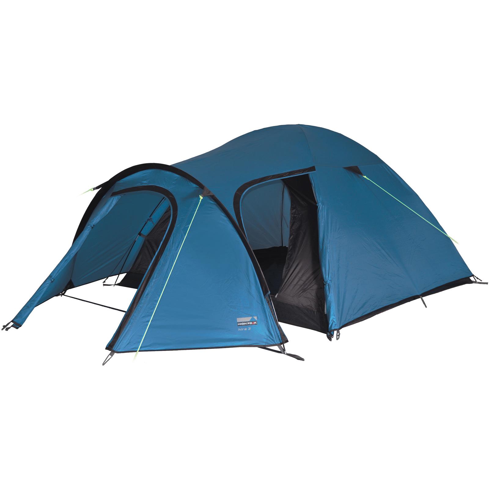 high peak kira 3 personen leichtes kuppelzelt iglu zelt blau neu ebay. Black Bedroom Furniture Sets. Home Design Ideas