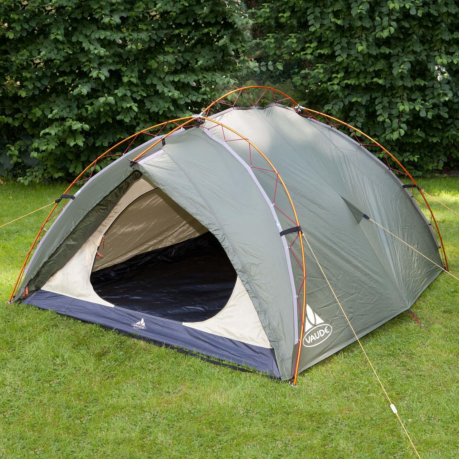 Zelt Vaude 3 Personen : Vaude terraquattro p camping zelt personen grÜn uvp