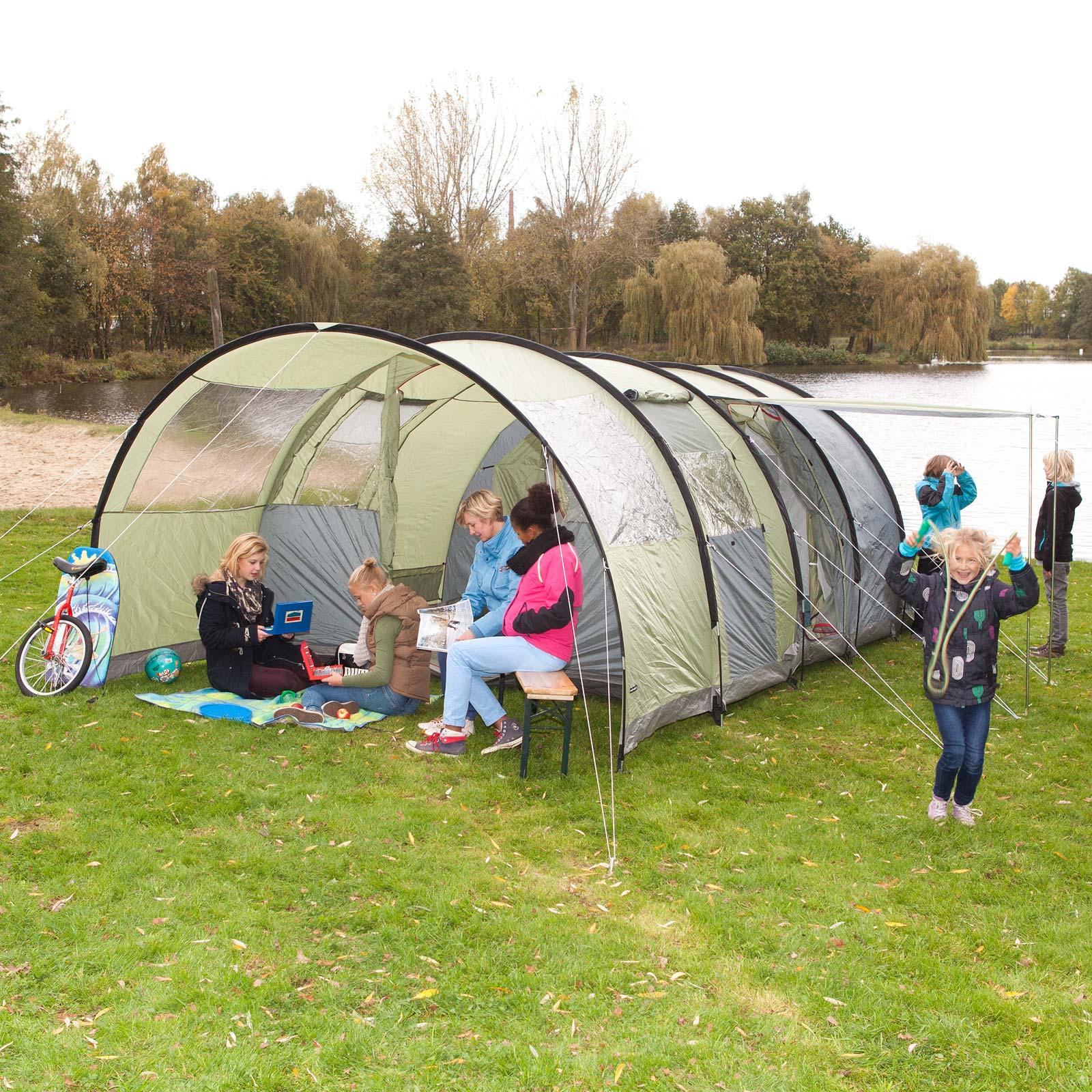 5 Quadratmeter Zelt : High peak sapri pers camping familienzelt vorbau neu
