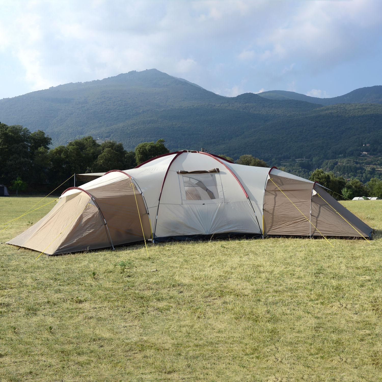 Zelt 9 Personen : Skandika turin personen familienzelt camping zelt