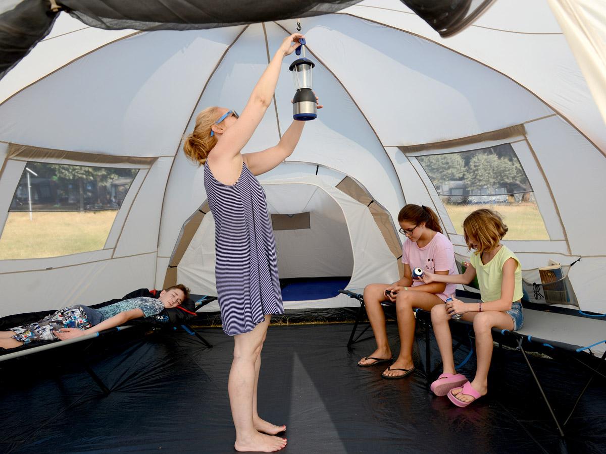 Skandika Turin 12 Person Man Family Dome Tent 3 Sleeping