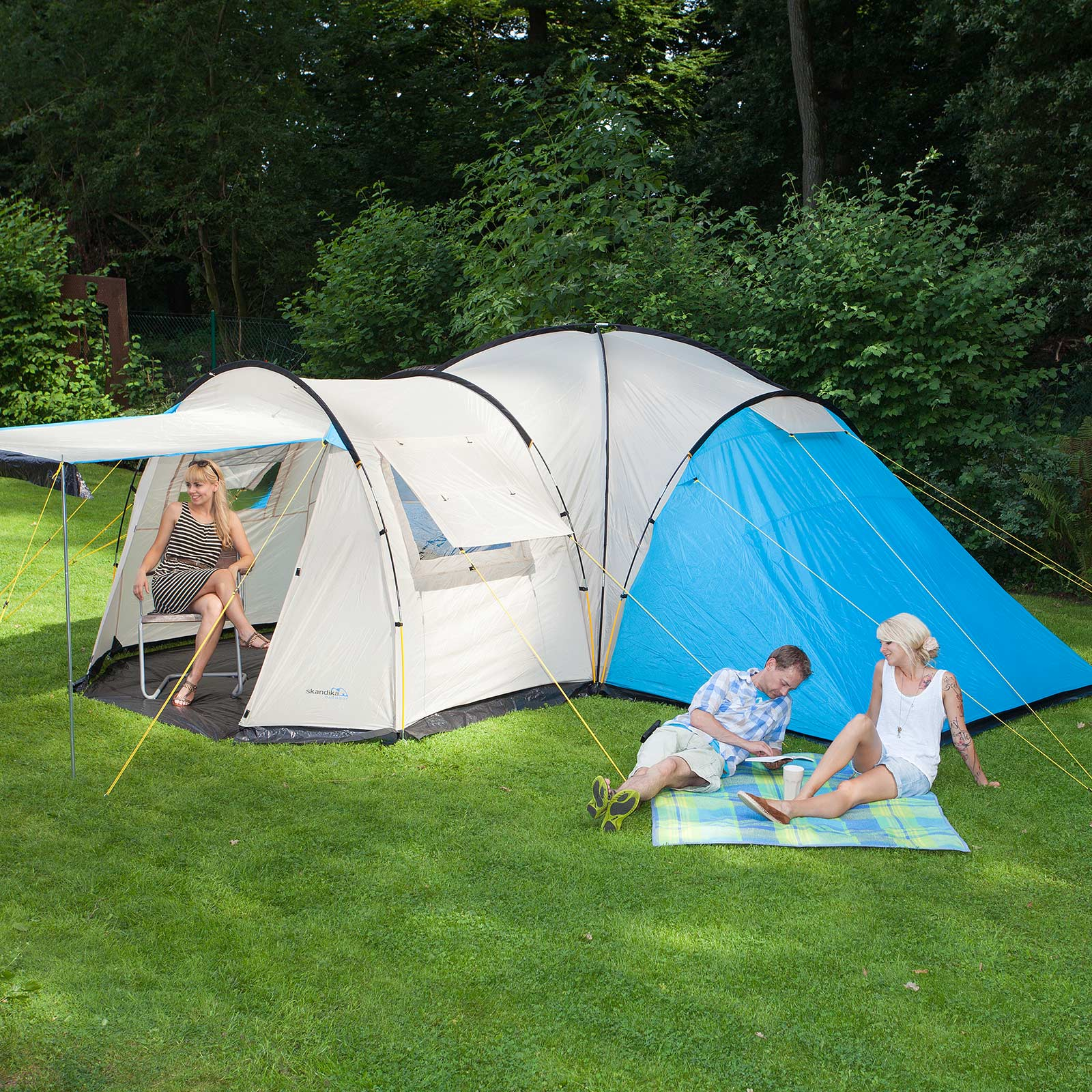 Skandika Toronto 8 Person/man Family Camping Tent Large ...