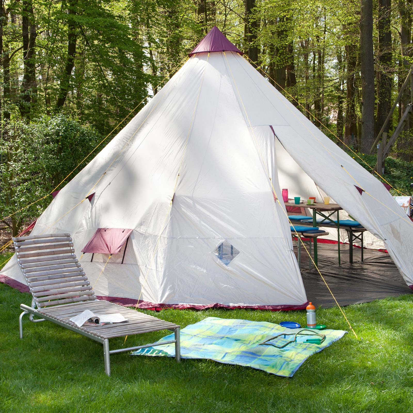 skandika tipii 300 tipi zelt wigwam indianerzelt b ware ebay. Black Bedroom Furniture Sets. Home Design Ideas