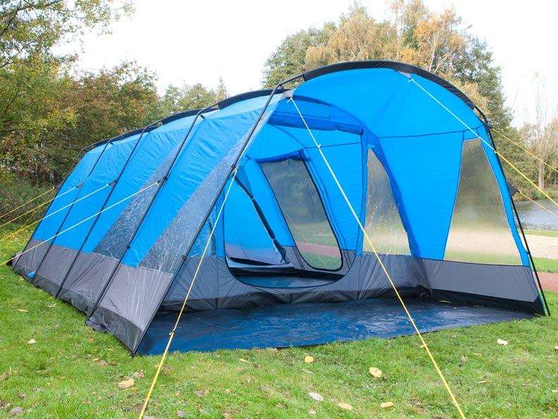 Skandika vancouver 6 pers tunnel tenda campeggio for Piccole planimetrie della cabina avvolgono il portico