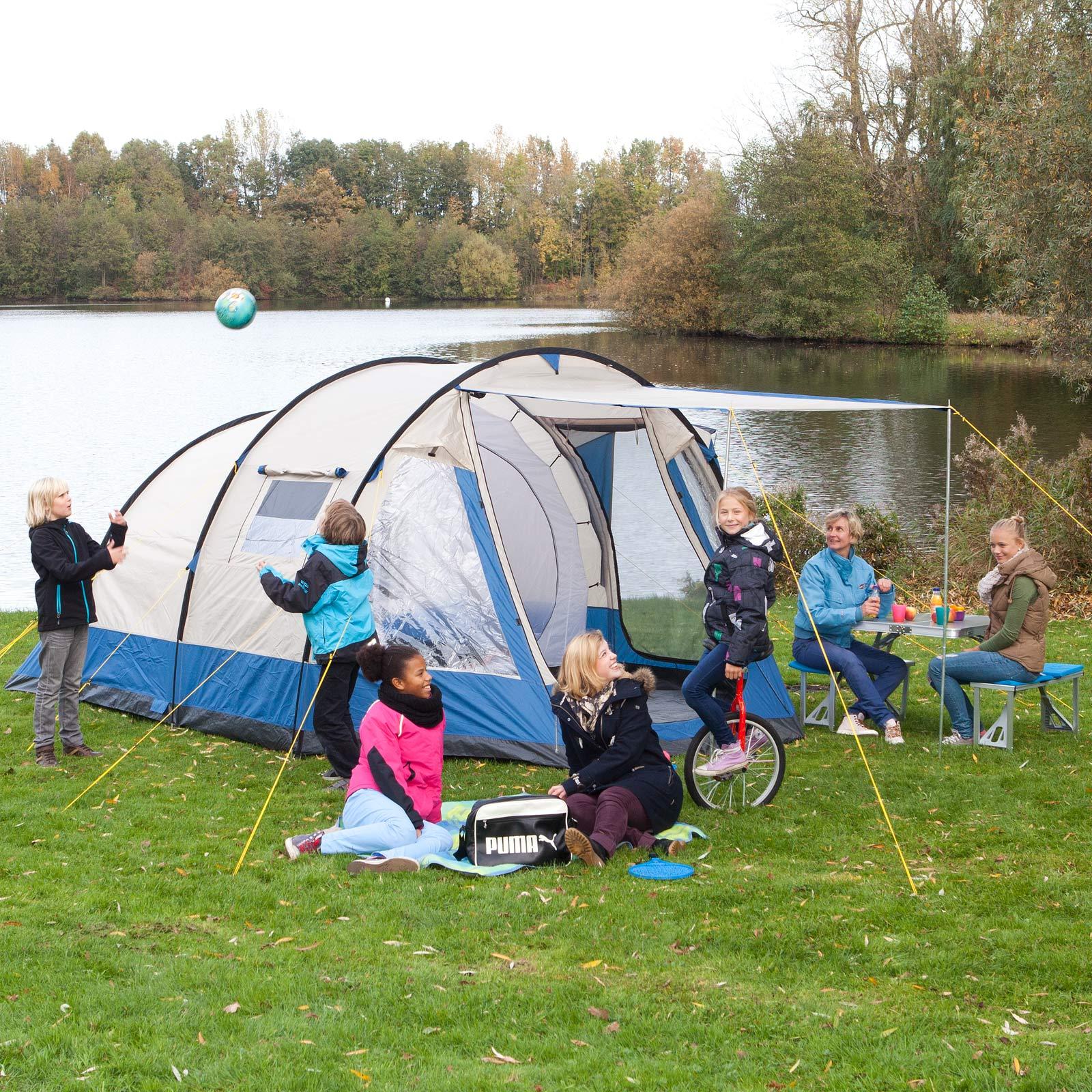 skandika lyon 5 personen familienzelt camping zelt neu ebay. Black Bedroom Furniture Sets. Home Design Ideas