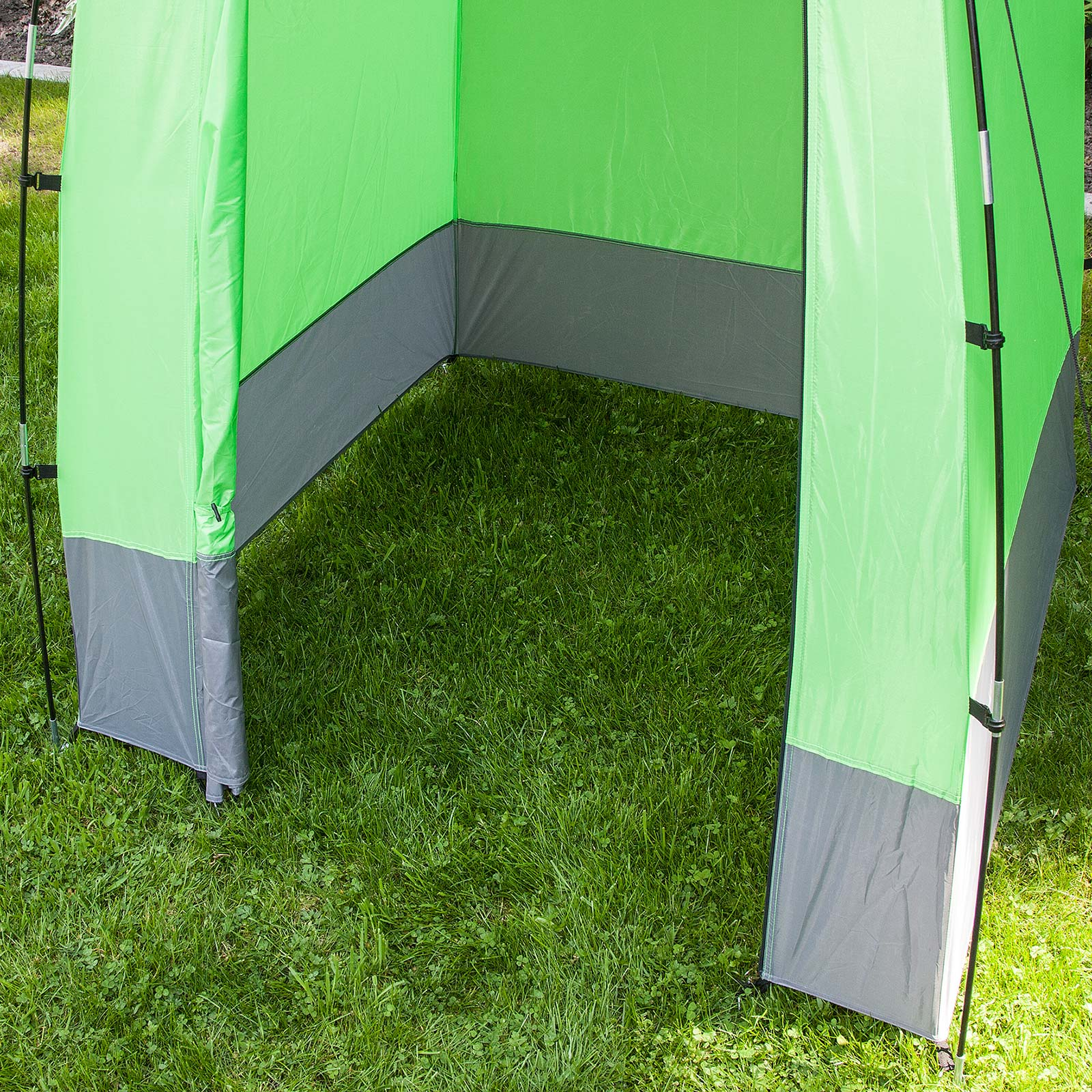 skandika tente cabine douche toilette camping 130x130cm verte neuve ebay. Black Bedroom Furniture Sets. Home Design Ideas