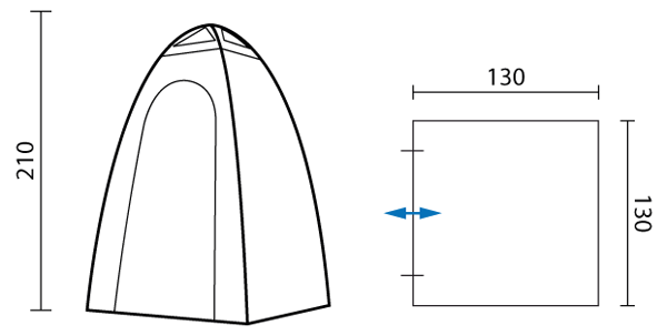 skandika tente cabine douche toilette camping 130x130cm verte neuve eur 49 95 picclick fr. Black Bedroom Furniture Sets. Home Design Ideas