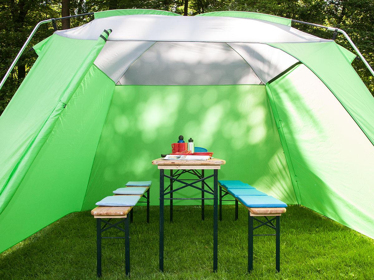 skandika outdoor pavillon 300x300 cm stehh he 210 cm camping gr n neu ebay. Black Bedroom Furniture Sets. Home Design Ideas