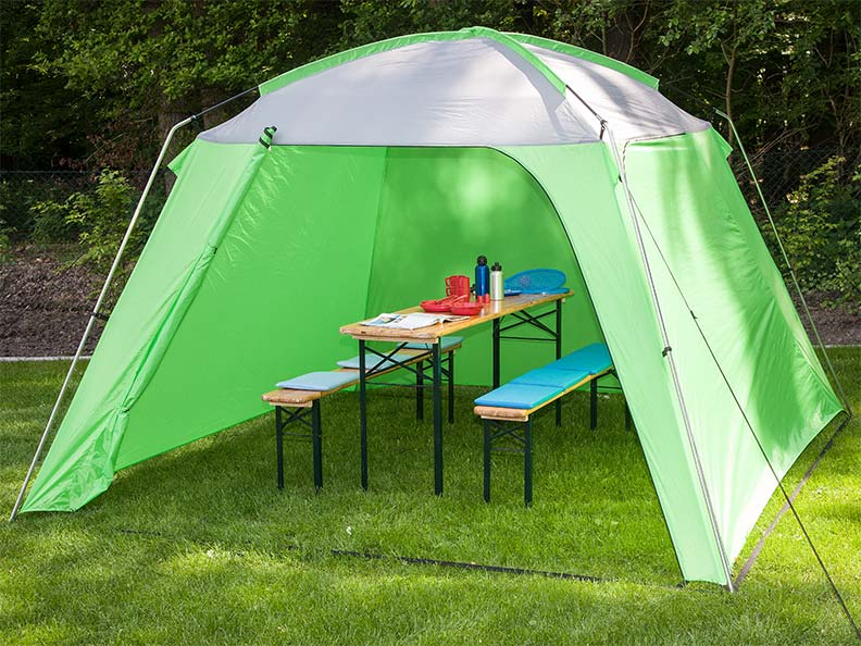 Skandika pavillon tonelle abri tente jardin fetes ombre 3x3x2 10m vert neuf ebay Tente de jardin metro