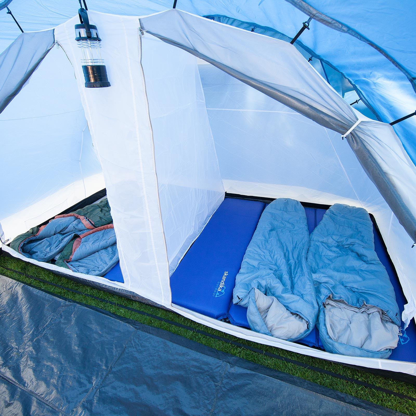 skandika-Helsinki-6-persone-Tenda-campeggio-Tunnel-Zanzariera-blu-scuro-nuova