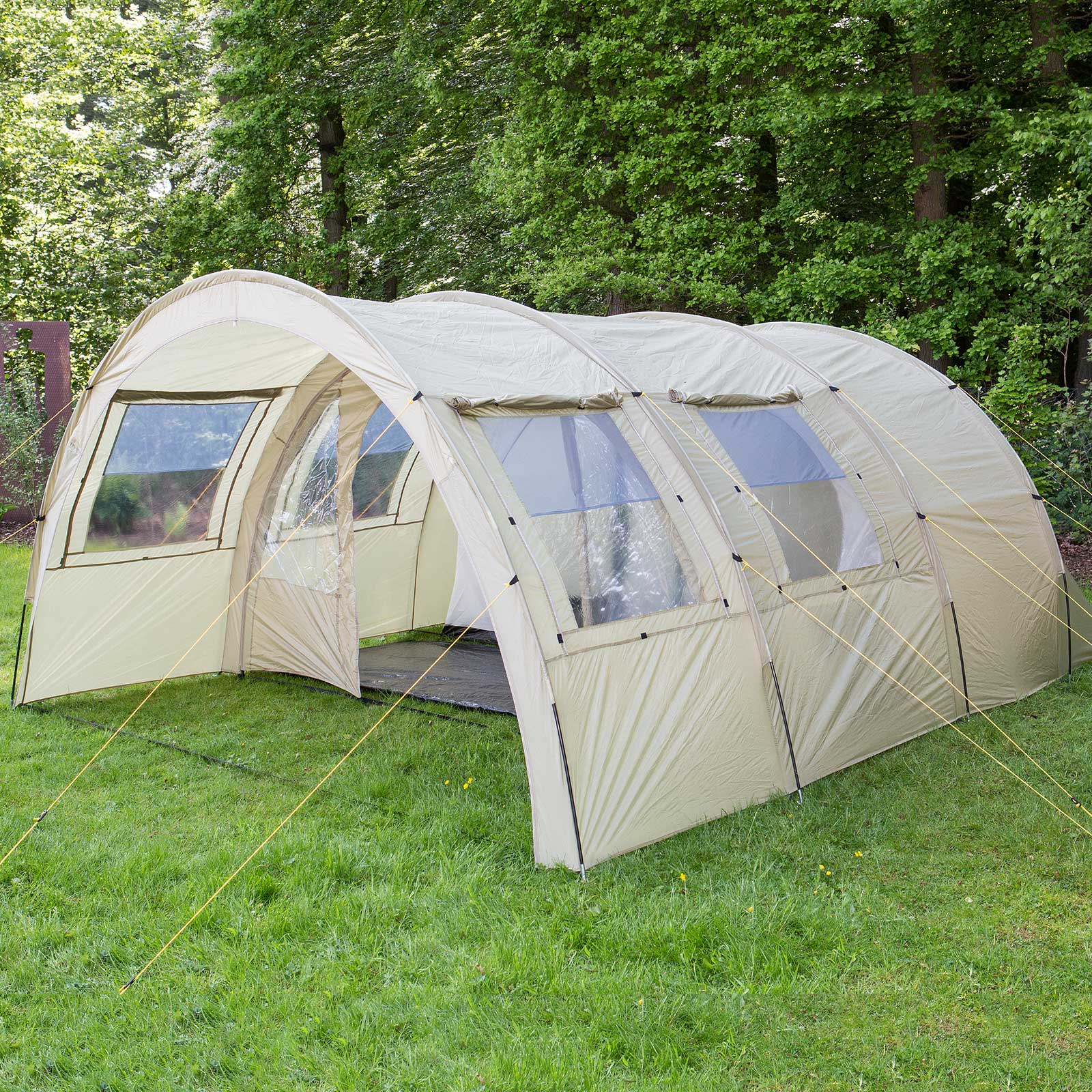 skandika kemi 4 person man family tunnel tent camp 3000mm water column khaki new ebay. Black Bedroom Furniture Sets. Home Design Ideas