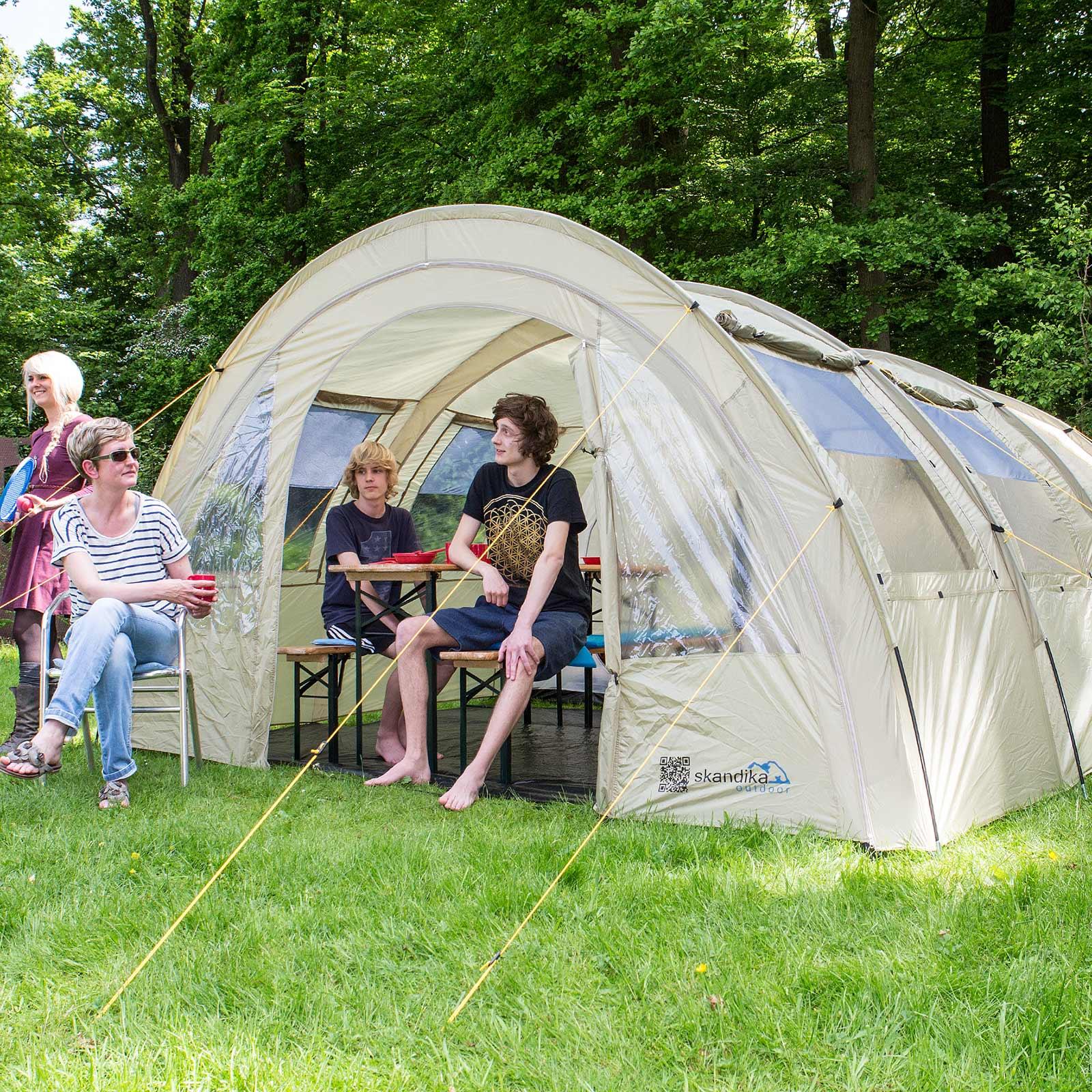 skandika-Kemi-4-Person-Man-Family-Tunnel-Tent- & skandika Kemi 4 Person/Man Family Tunnel Tent Camp 3000mm Water ...