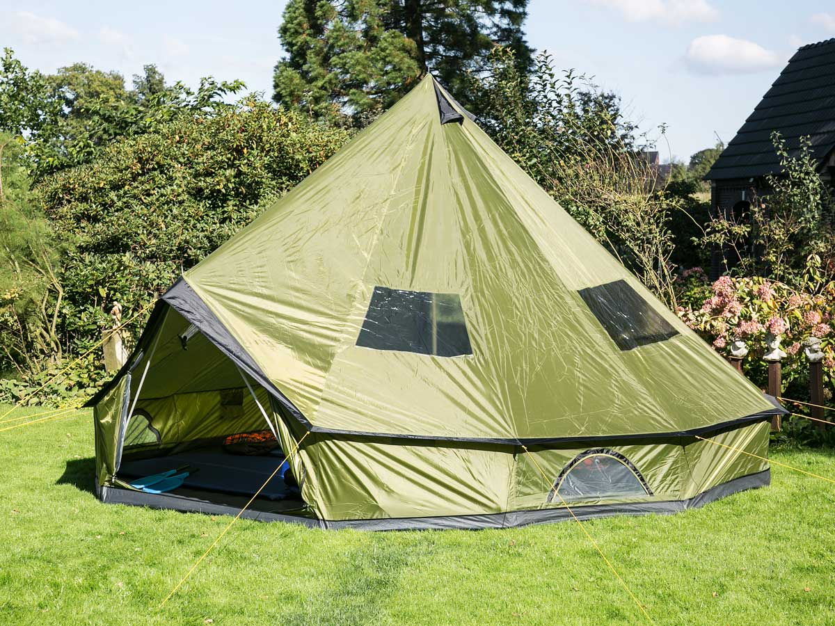 skandika molde10 person man teepee tent sewn in groundsheet tipii 295cm high new ebay. Black Bedroom Furniture Sets. Home Design Ideas