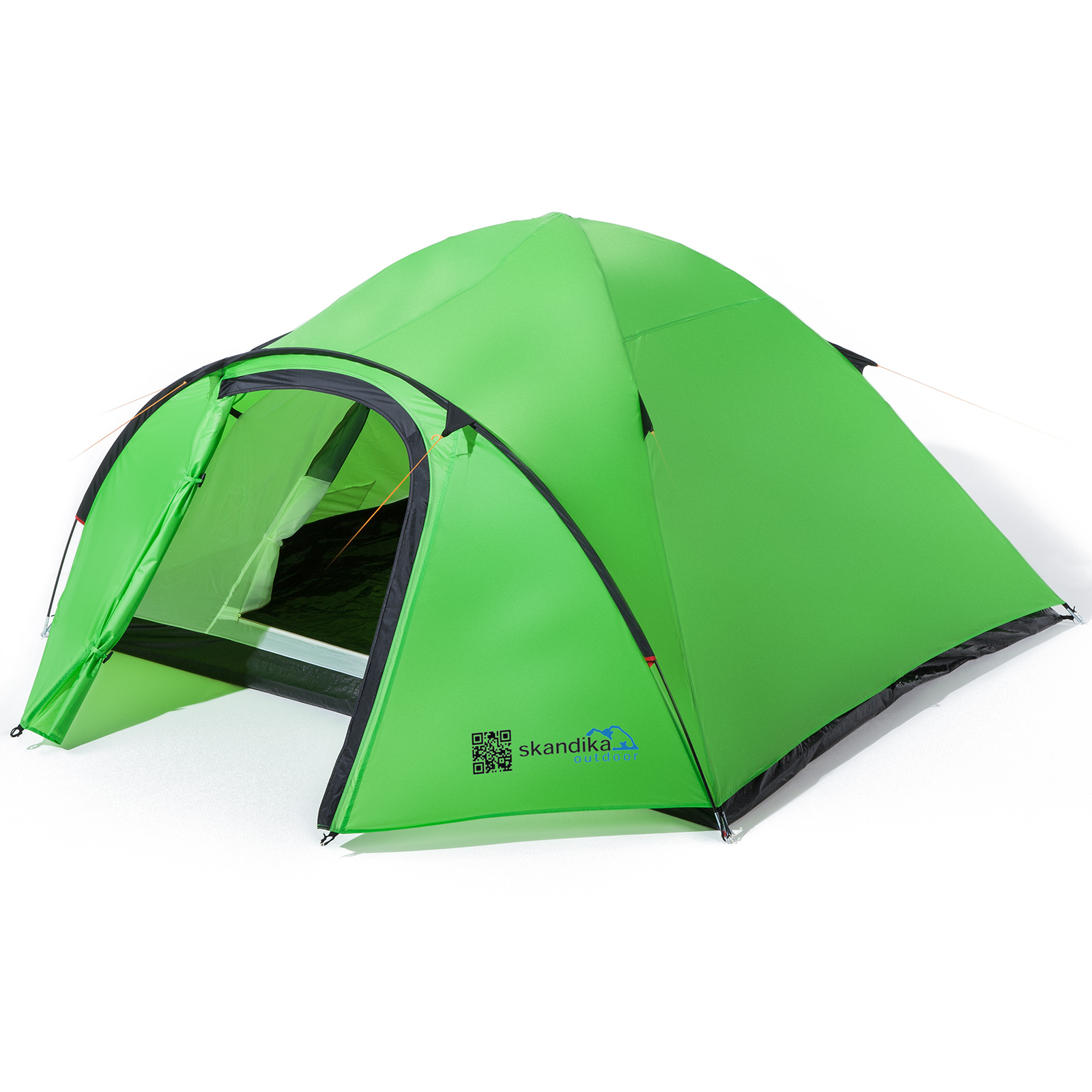Skandika Larvik 3 Person Man Festival Hiking Tent Grün Sewn-in Floor 4.5 kg New