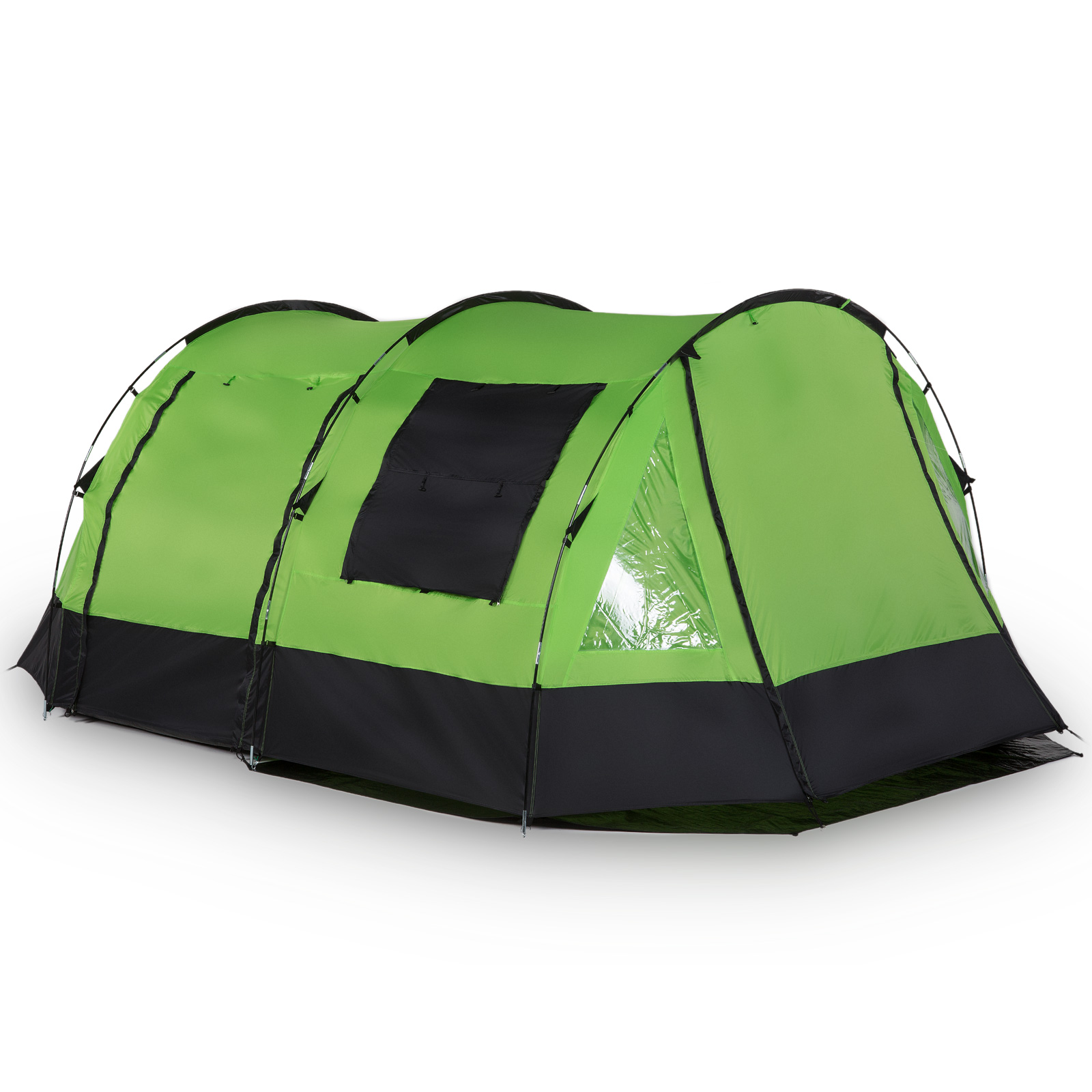 skandika kambo 4 tente camping familiale tunnel 4 pers marquise vert neuve ebay. Black Bedroom Furniture Sets. Home Design Ideas