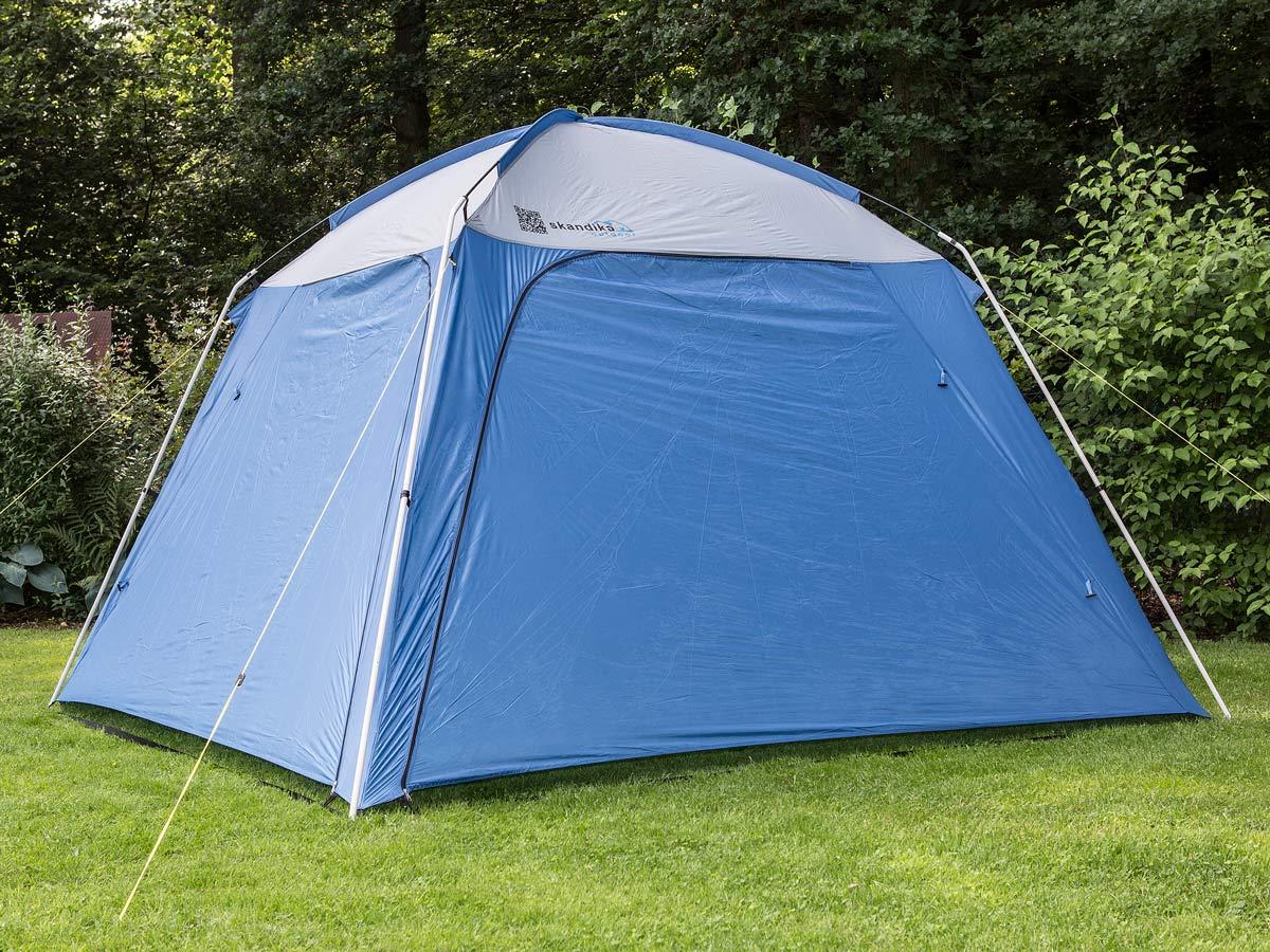 Skandika pavillon tonelle abri tente jardin fetes ombre 3x3x2 10m bleu neuf ebay Tente de jardin metro