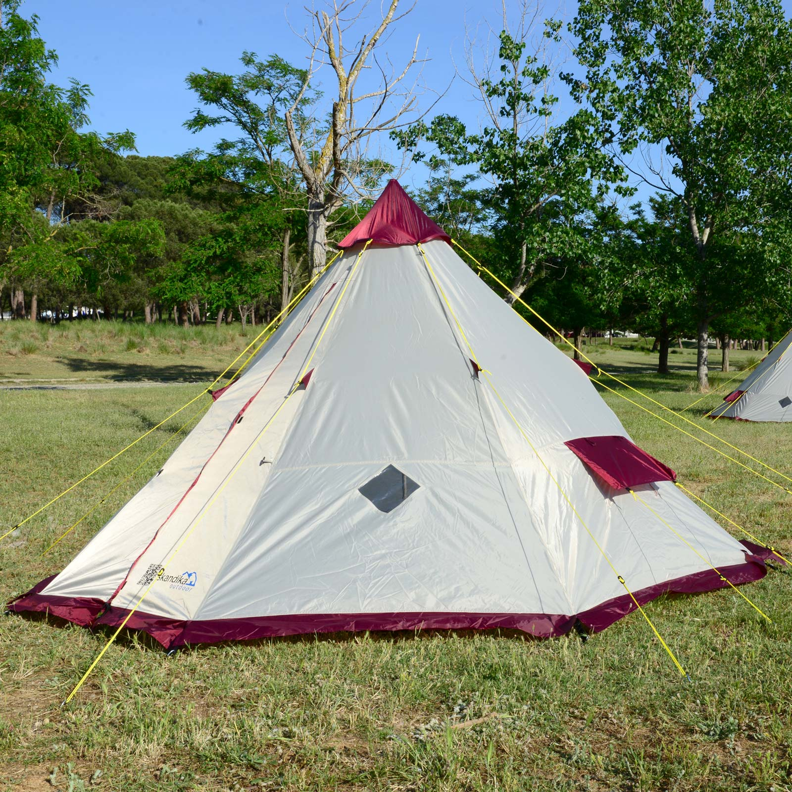 skandika tipii 200 tente camping tipi indien 6 pers 2m hauteur neuf ebay. Black Bedroom Furniture Sets. Home Design Ideas