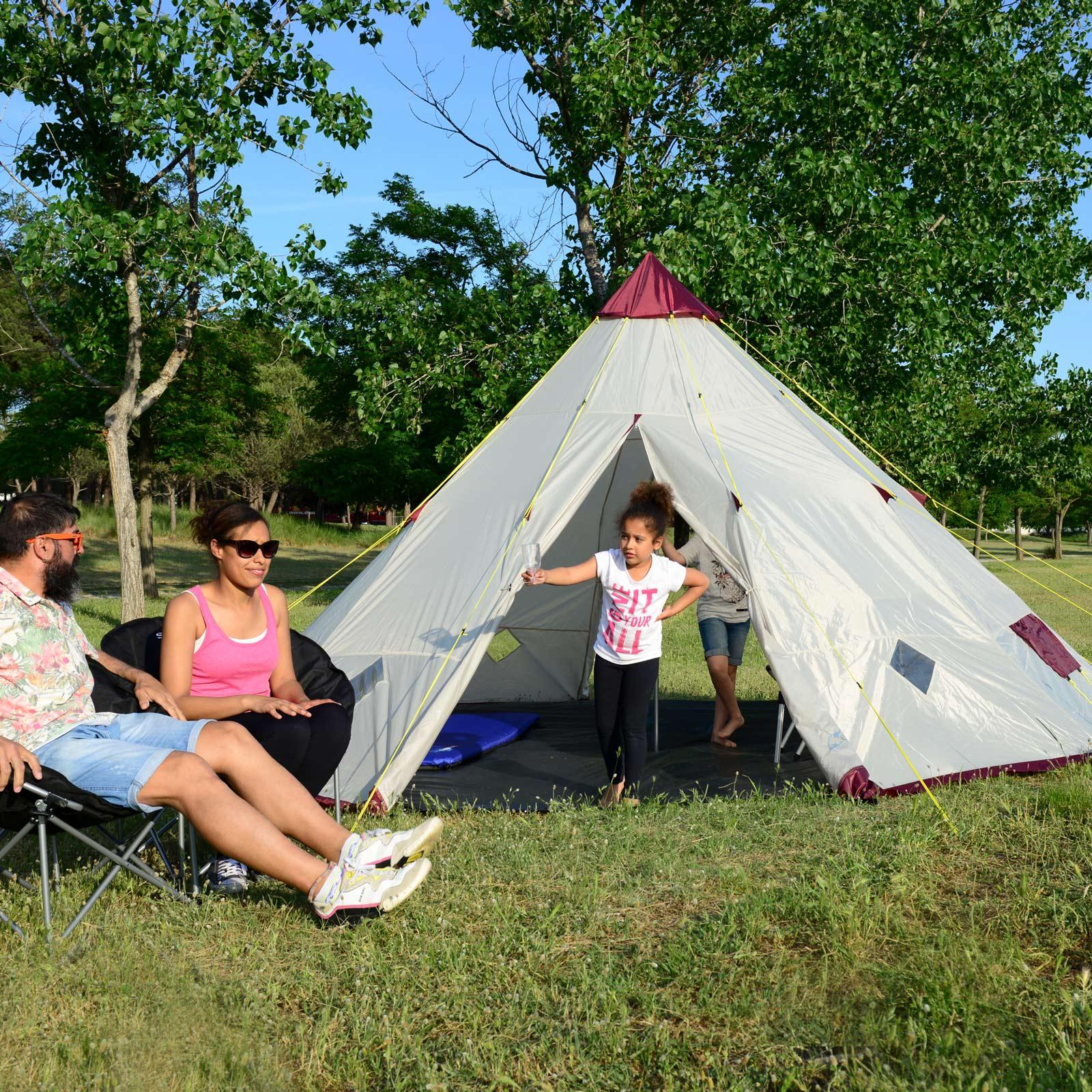 skandika-Teepee-250-Camping-Party-Festival-Tent-2-5-M-Height-3000mm-Column-New thumbnail 3