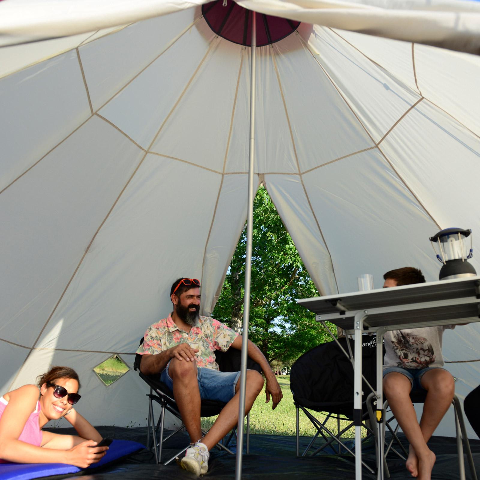 skandika-Teepee-250-Camping-Party-Festival-Tent-2-5-M-Height-3000mm-Column-New thumbnail 11