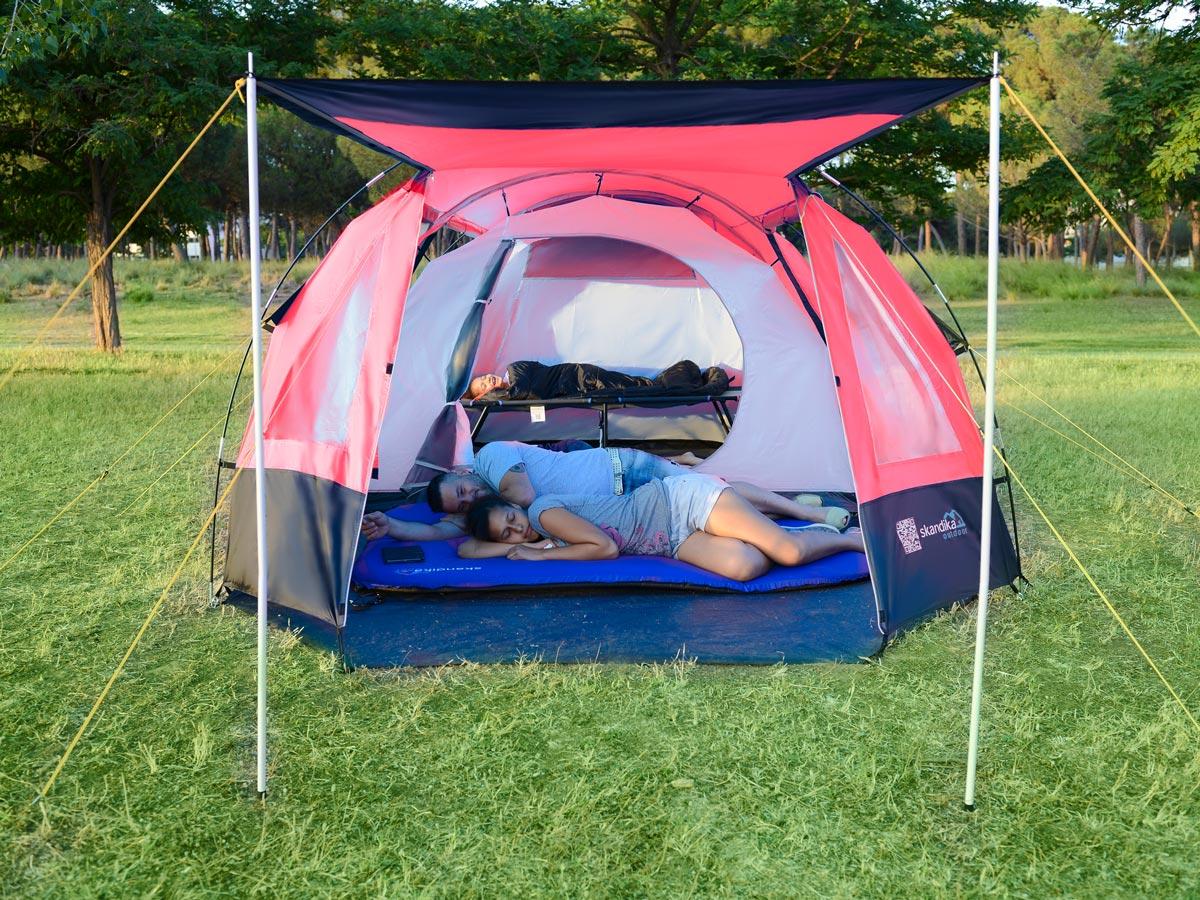 Skandika Kambo 4 Person Man Tunnel Camping Tent 3