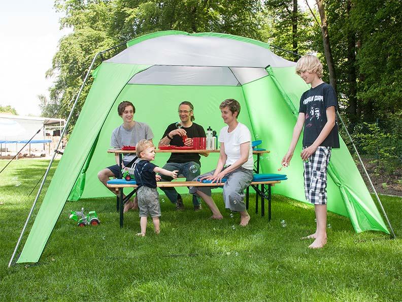 skandika pavillon outdoor camping 300x300 cm stehh he 210 cm gr n neu ebay. Black Bedroom Furniture Sets. Home Design Ideas