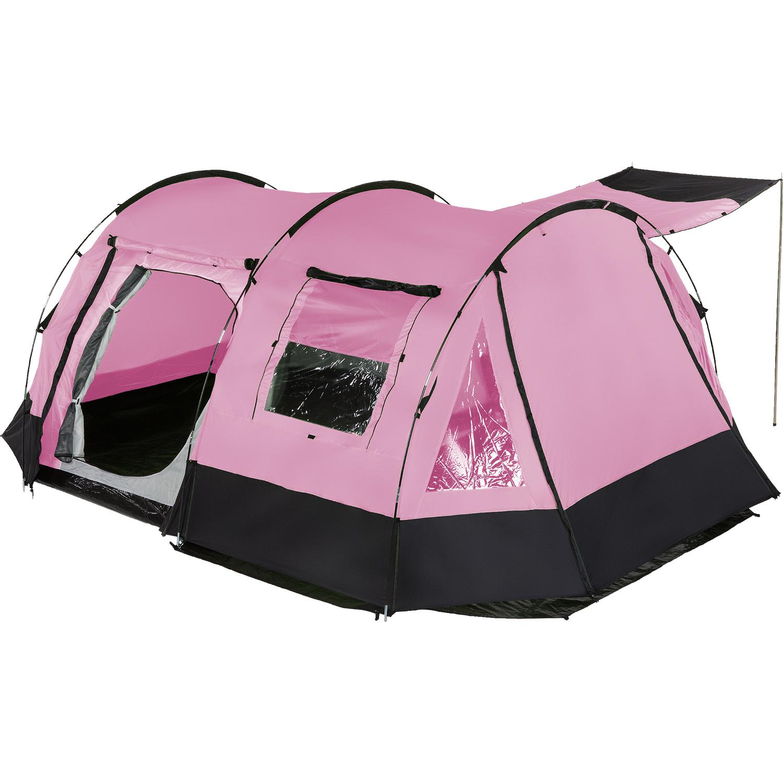 Skandika Kambo 4 Tente camping familiale Tunnel 4 Pers. Marquise Rose NEUVE