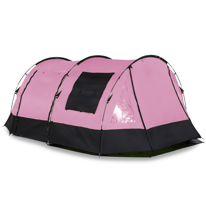 skandika-Kambo-4-Tente-camping-familiale-Tunnel-4-Pers-Marquise-Rose-NEUVE miniature 2