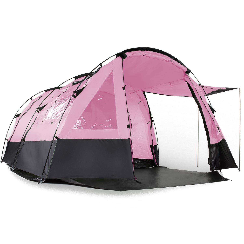 skandika-Kambo-4-Tente-camping-familiale-Tunnel-4-Pers-Marquise-Rose-NEUVE miniature 5
