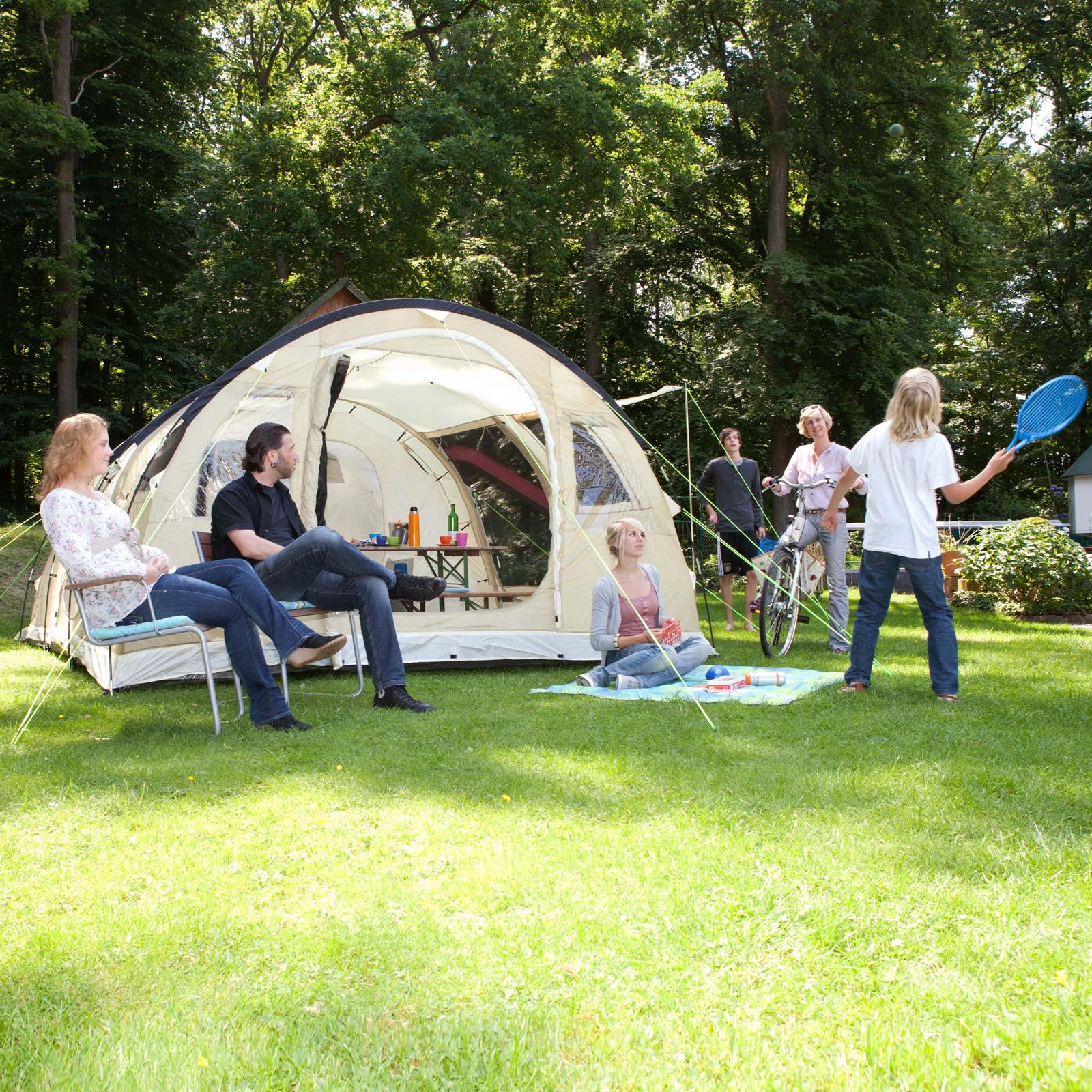 skandika gotland 5 familienzelt tunnelzelt 4 5 personen. Black Bedroom Furniture Sets. Home Design Ideas