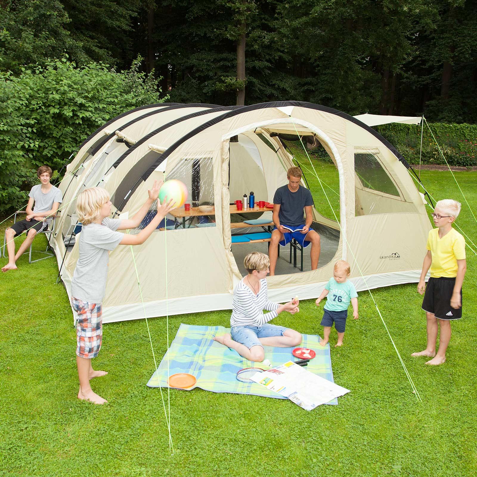 skandika gotland 6 pers tente camping tunnel familiale. Black Bedroom Furniture Sets. Home Design Ideas