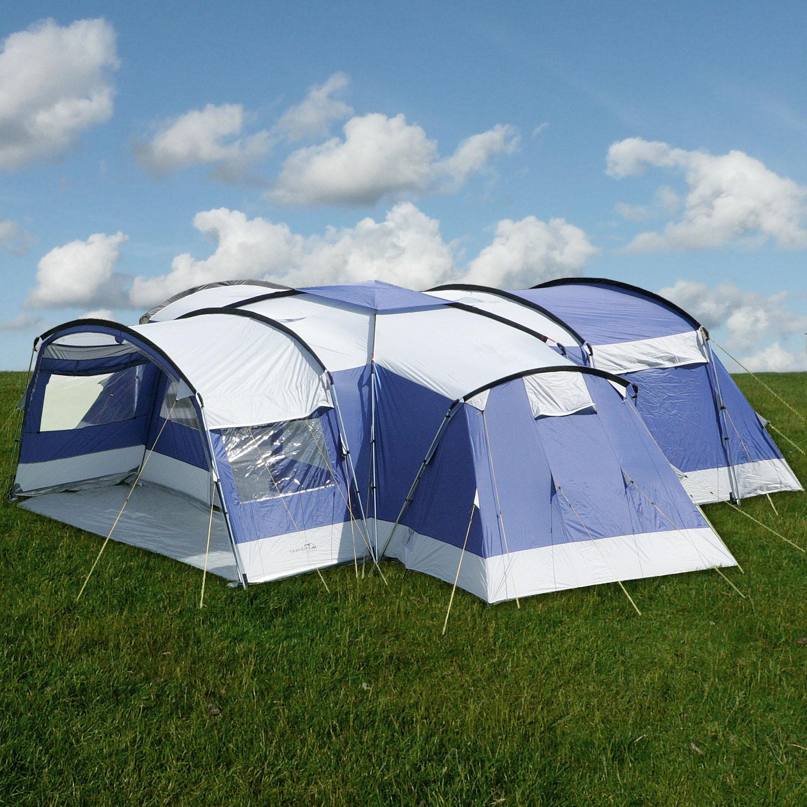 skandika nimbus 12 persone tenda campeggio 4 cabine