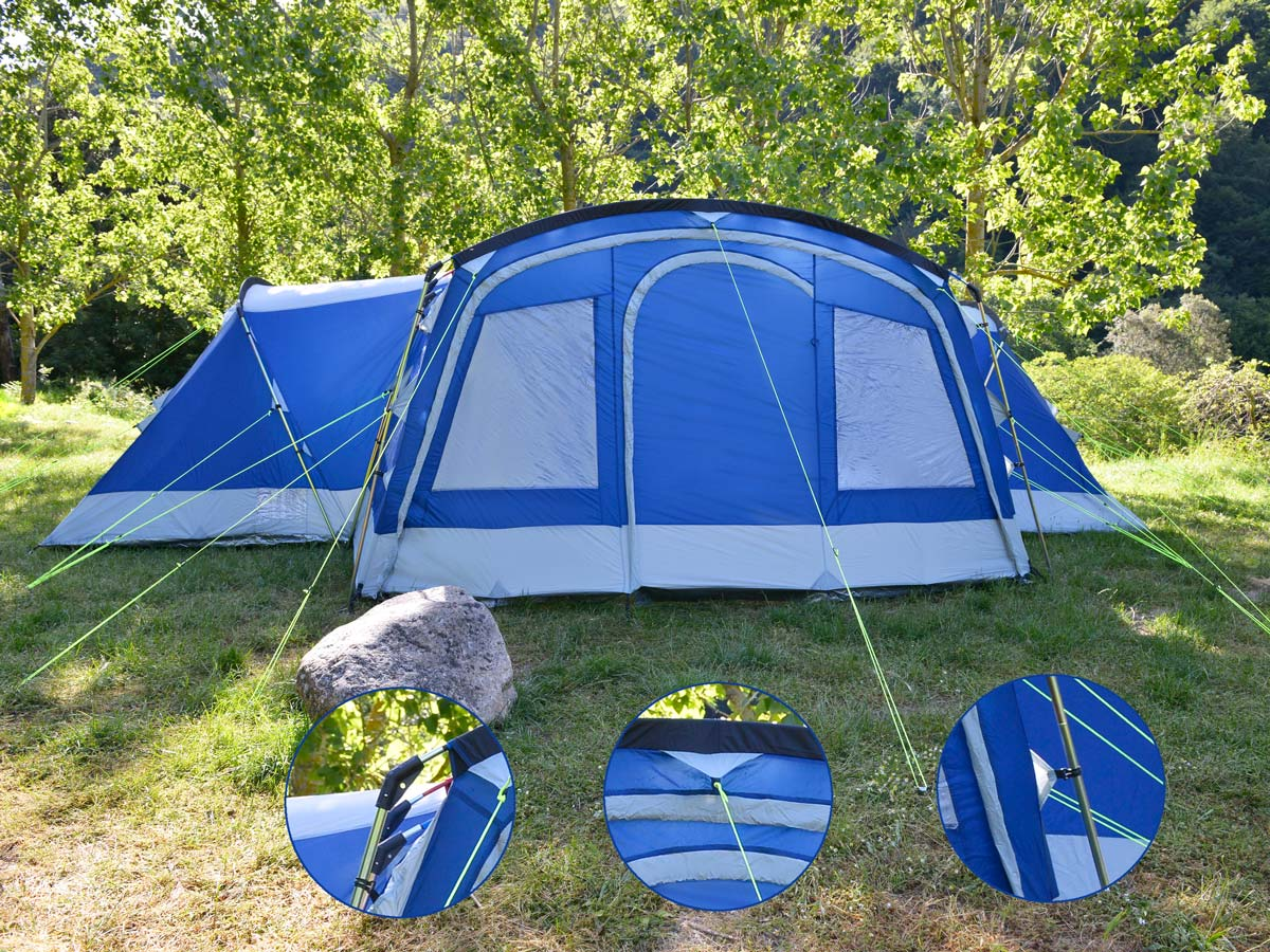 skandika Nimbus 12 Person/Man XL Group Tent 4 Sleeping ...