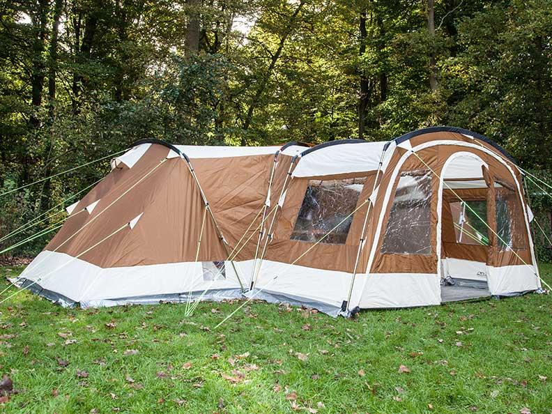skandika nimbus tente camping familiale 12 pers 4 cabines marron neuve ebay. Black Bedroom Furniture Sets. Home Design Ideas