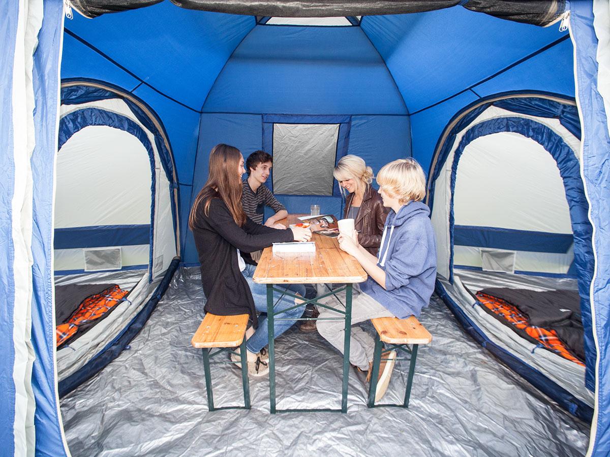skandika Multispace 6 Person Modular Tent Pavilion & 2 ...