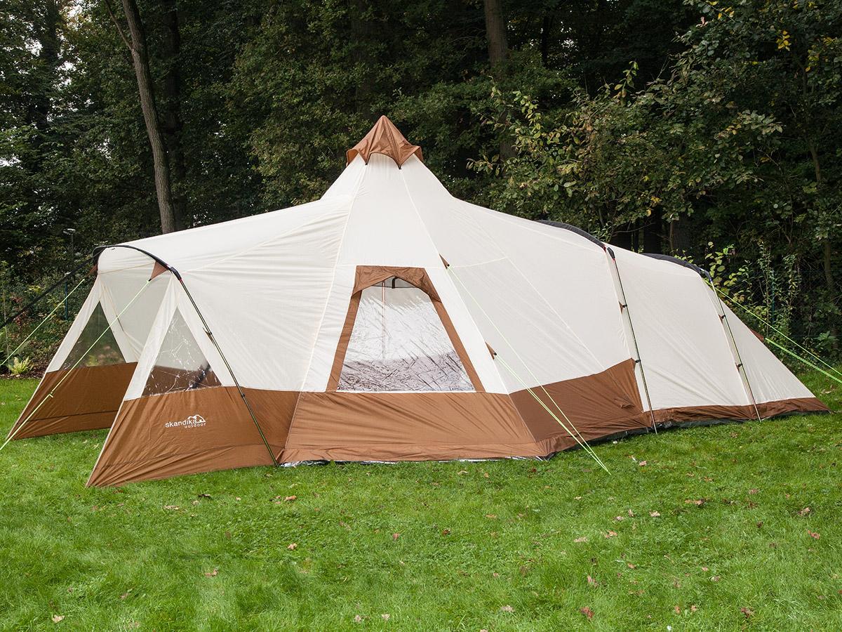 skandika Navaho 5 Person Man Tipi Teepee Tent Sewn-in ...