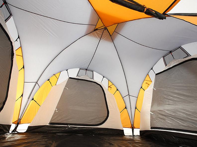 grand canyon daytona 6 personen familienzelt 3 kabinen uvp 259 95 neu ebay. Black Bedroom Furniture Sets. Home Design Ideas