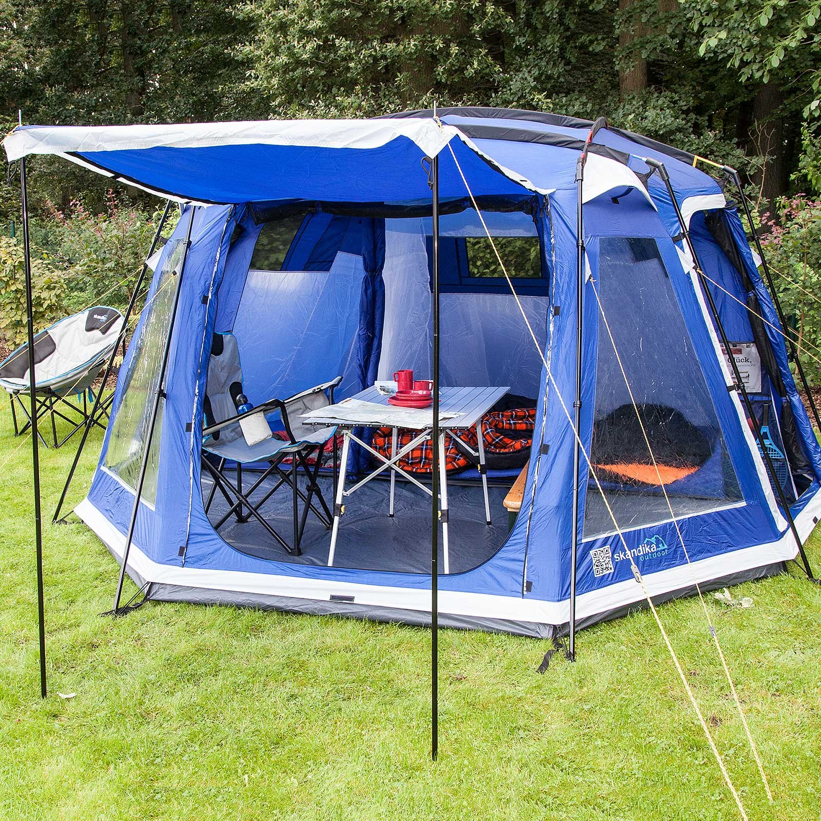 Image is loading skandika-Copenhagen-6-Person-Man-Family-Dome-Tent- & skandika Copenhagen 6 Person/Man Family Dome Tent Sewn-in ...