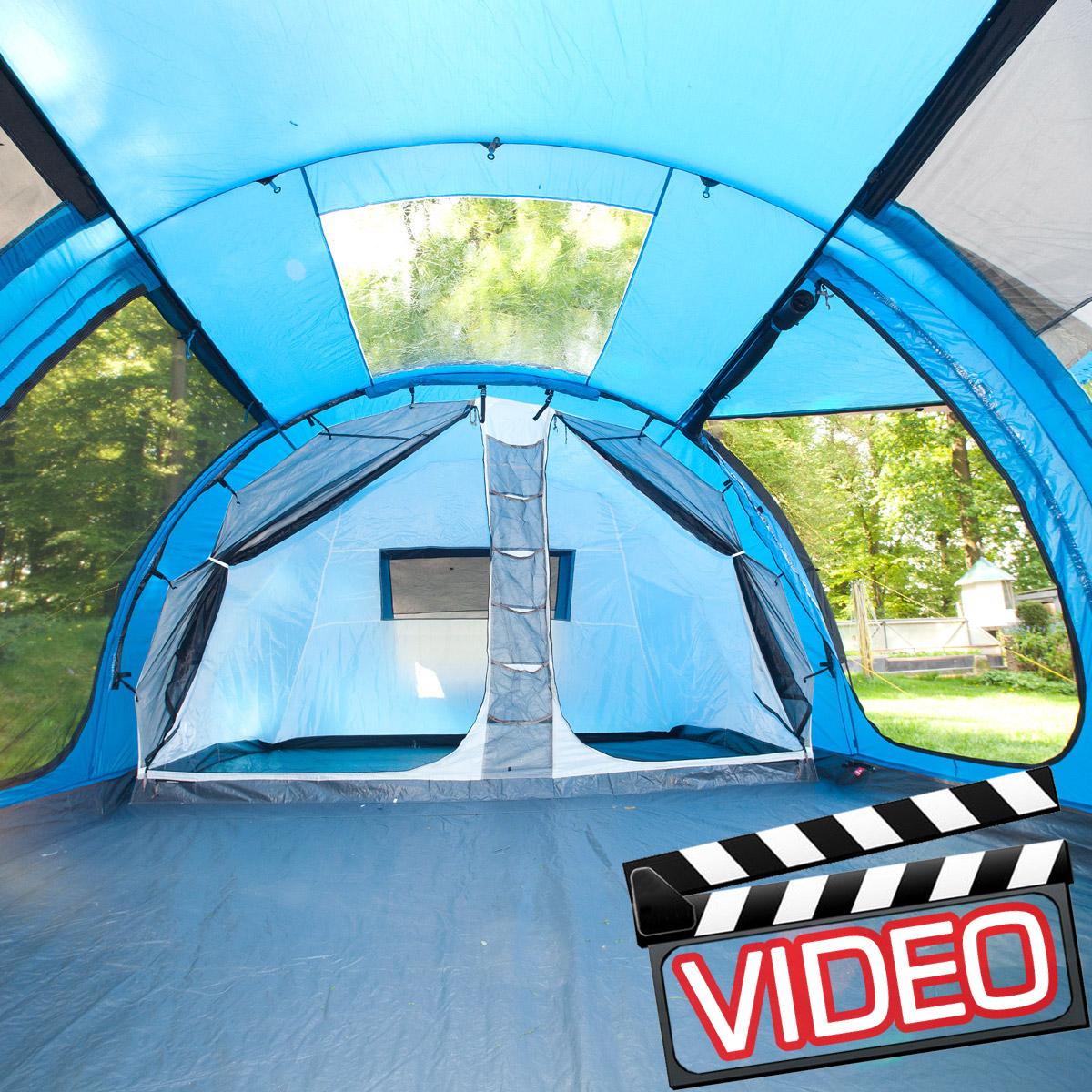 Zelt 5 Personen Gebraucht : Skandika torino familien camping zelt schnellaufbau