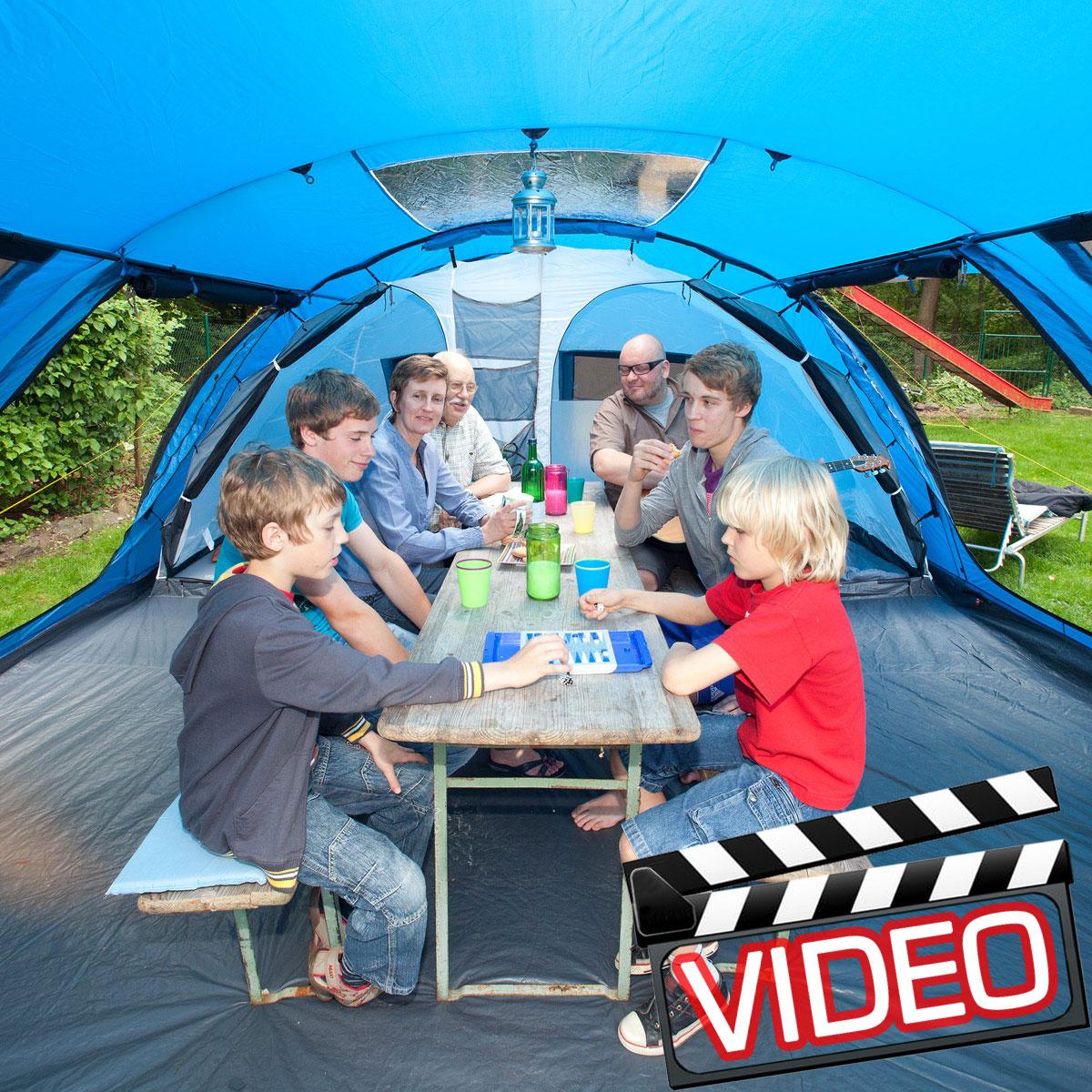 Zelt Torino 4 : Skandika torino familien zelt personen campingzelt