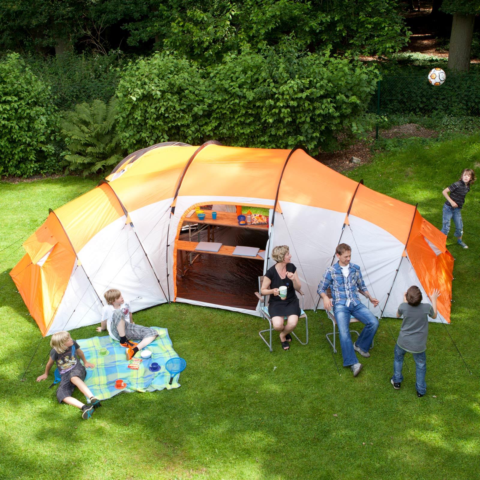Zelt 9 Personen : Skandika lausanne familienzelt personen camping zelt