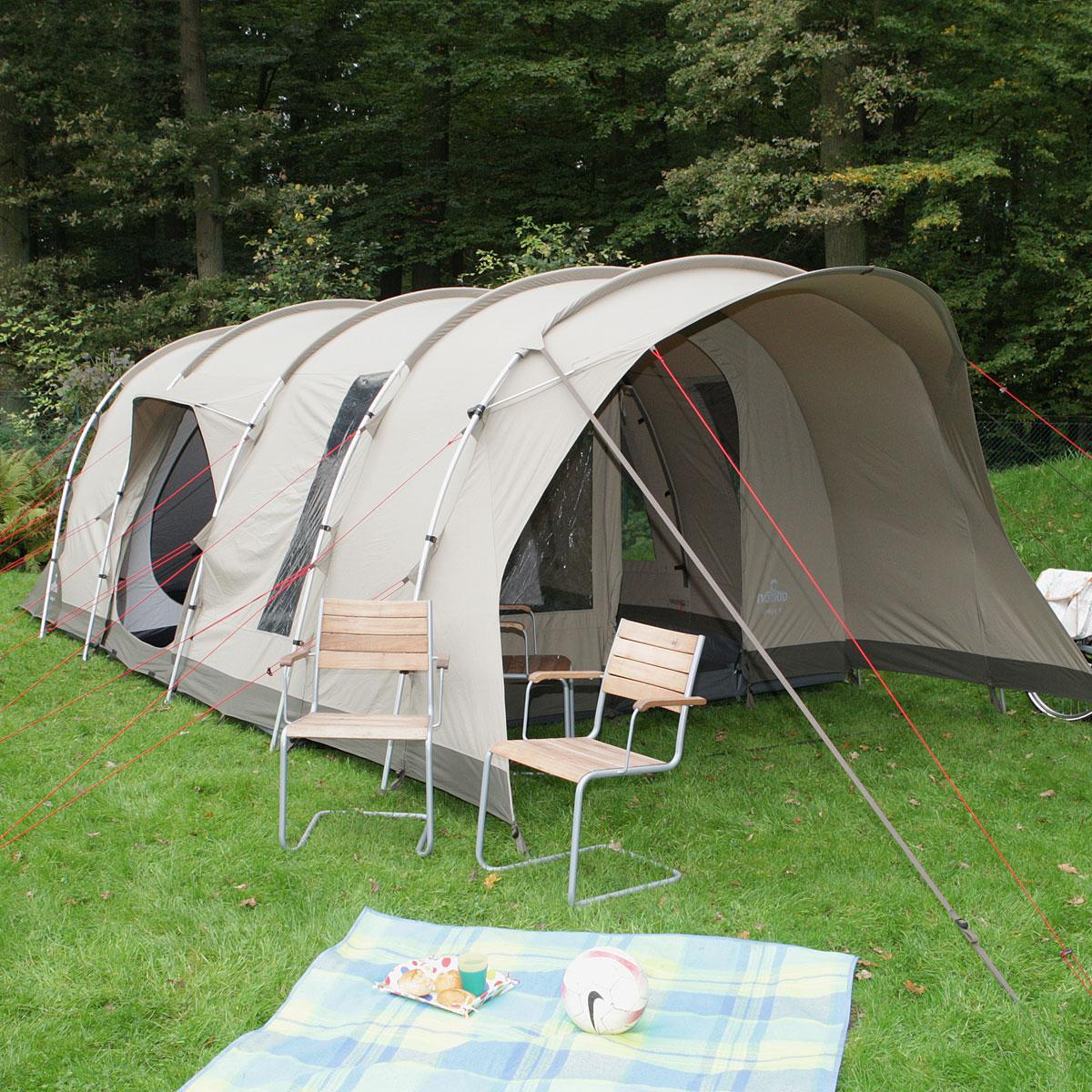 nomad lodge 4 air familien tunnelzelt 4 personen neu ebay. Black Bedroom Furniture Sets. Home Design Ideas