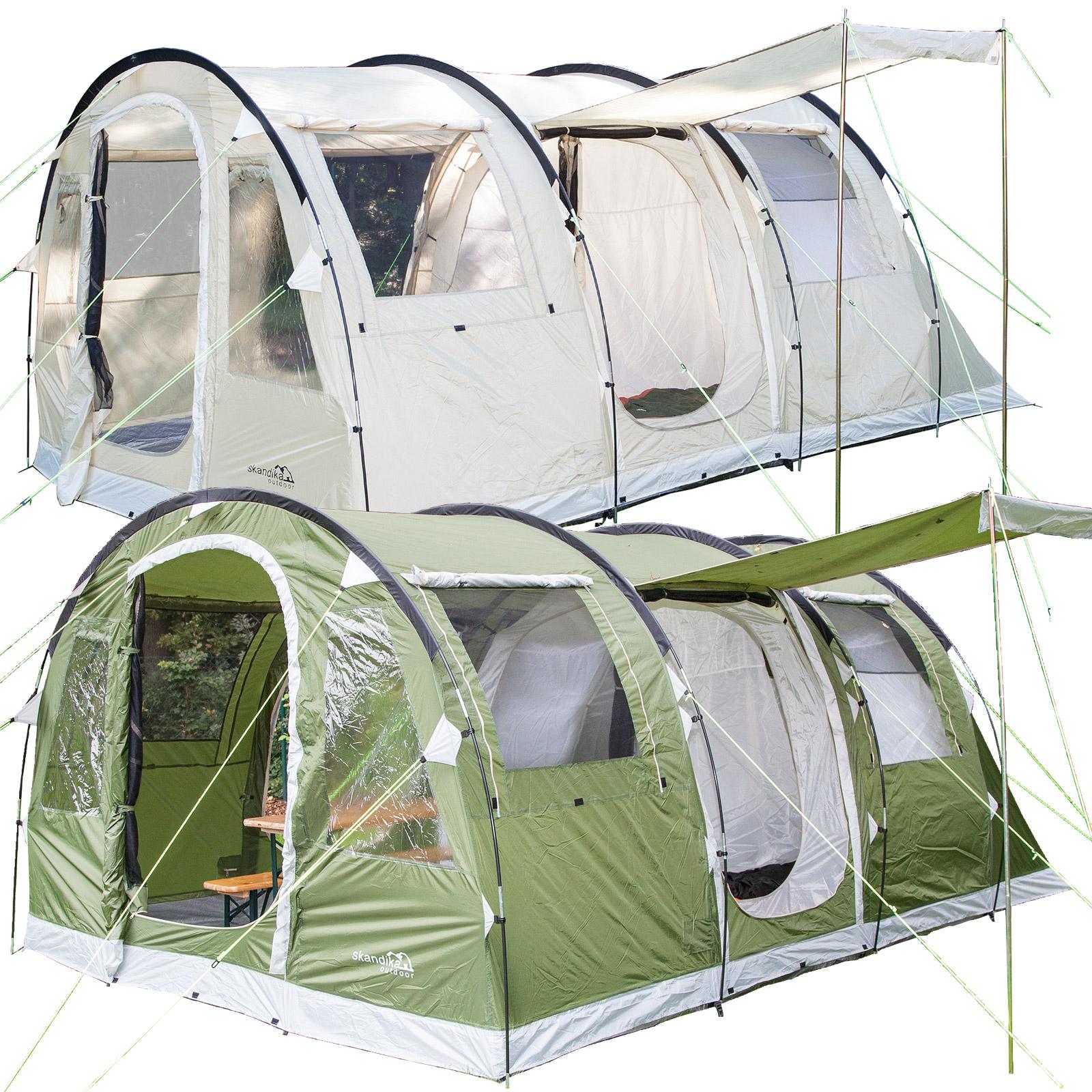 skandika-Gotland-Tunnel-Tents-4-6-Person-Canopy-  sc 1 st  eBay & skandika Gotland Tunnel Tents 4-6 Person Canopy Green u0026 Sand Sewn ...