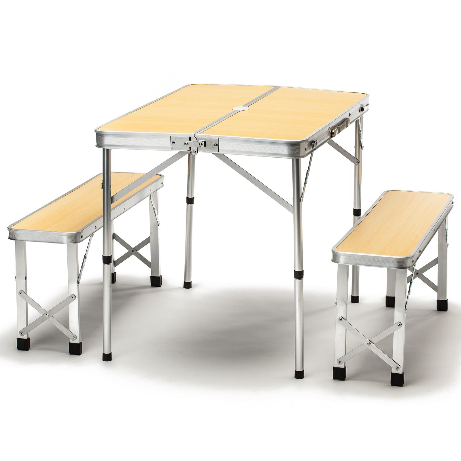 skandika ensemble table bancs camping pique nique pliable en valise 4pers neuf ebay. Black Bedroom Furniture Sets. Home Design Ideas