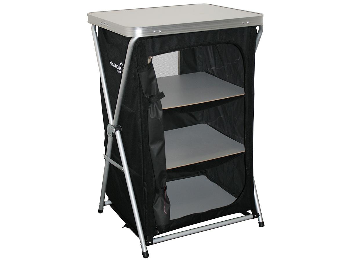 skandika camping k chenschrank mit 4 ebenen b ware uvp 64 95 ebay. Black Bedroom Furniture Sets. Home Design Ideas