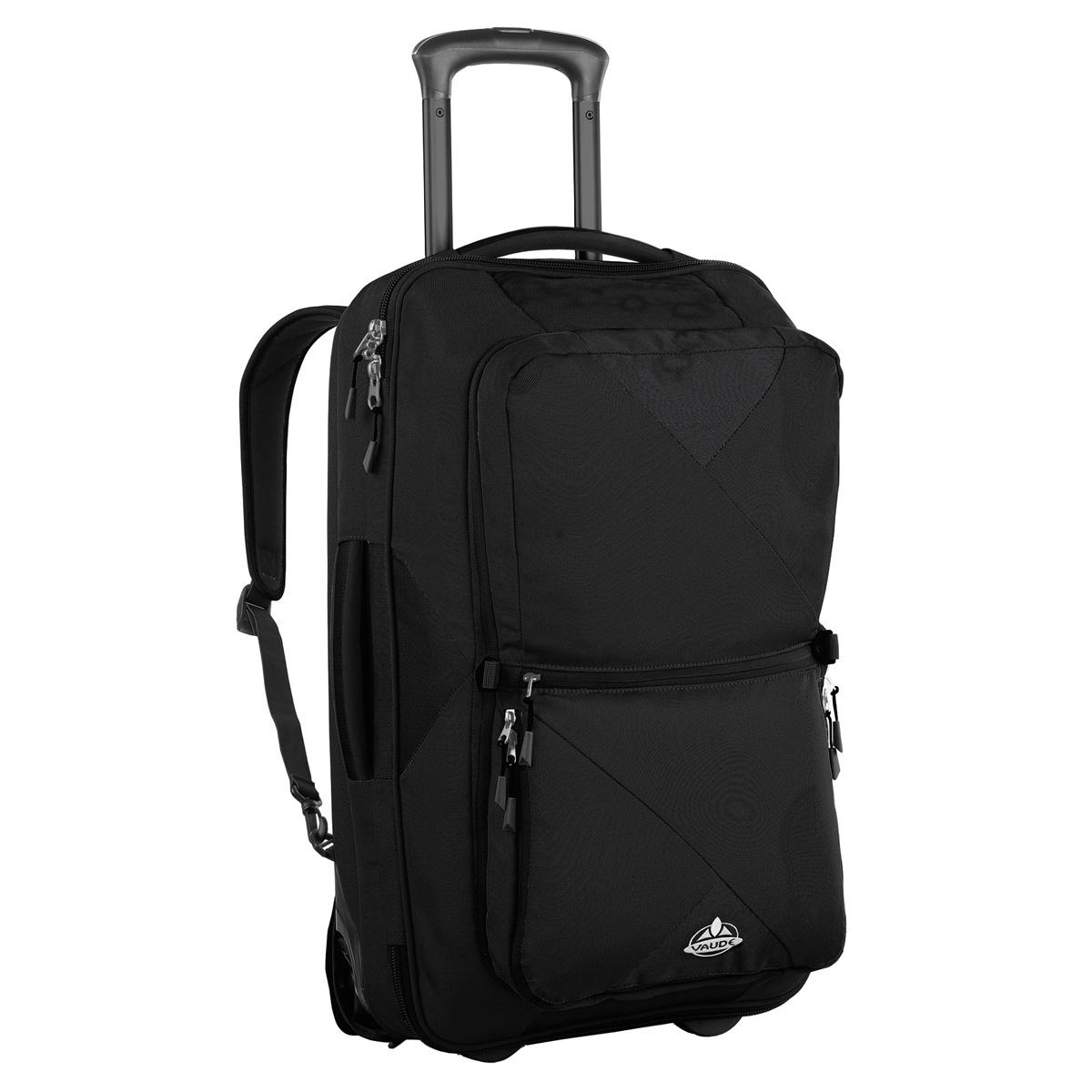 vaude rails 80 liter koffer rucksack mit rollen schwarz ebay. Black Bedroom Furniture Sets. Home Design Ideas