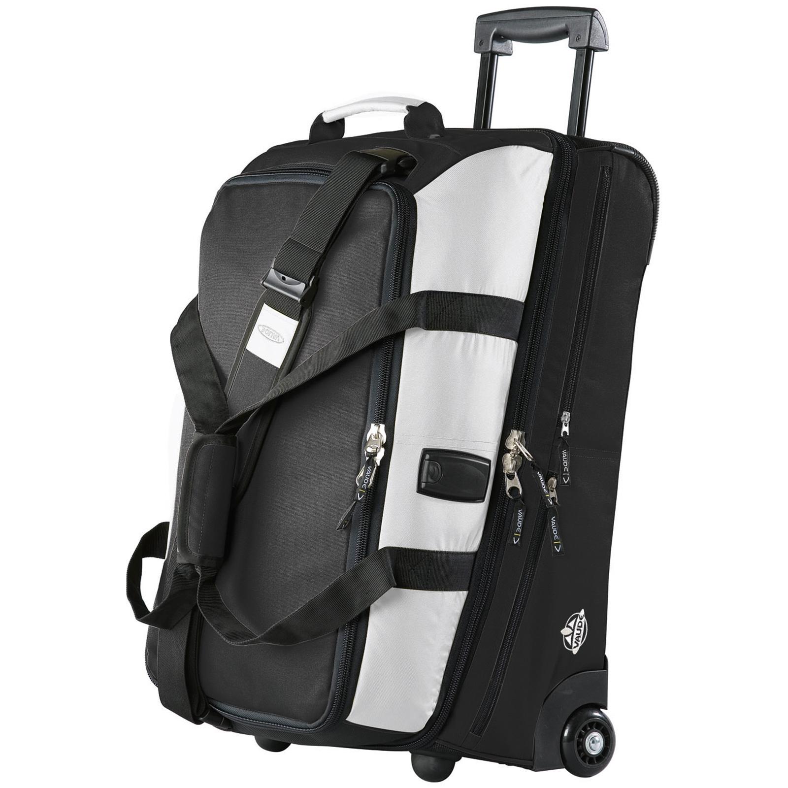 vaude samoa reisetasche koffer trolley 85 l schwarz neu ebay. Black Bedroom Furniture Sets. Home Design Ideas