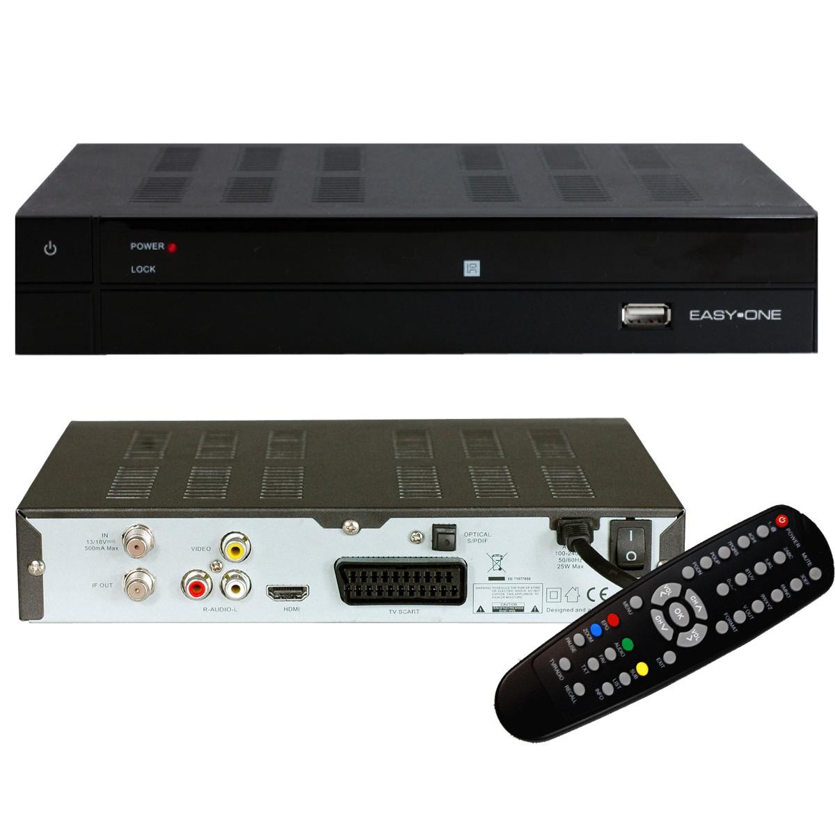 easy one s hd 1 digitaler hdtv satelliten receiver hdmi. Black Bedroom Furniture Sets. Home Design Ideas