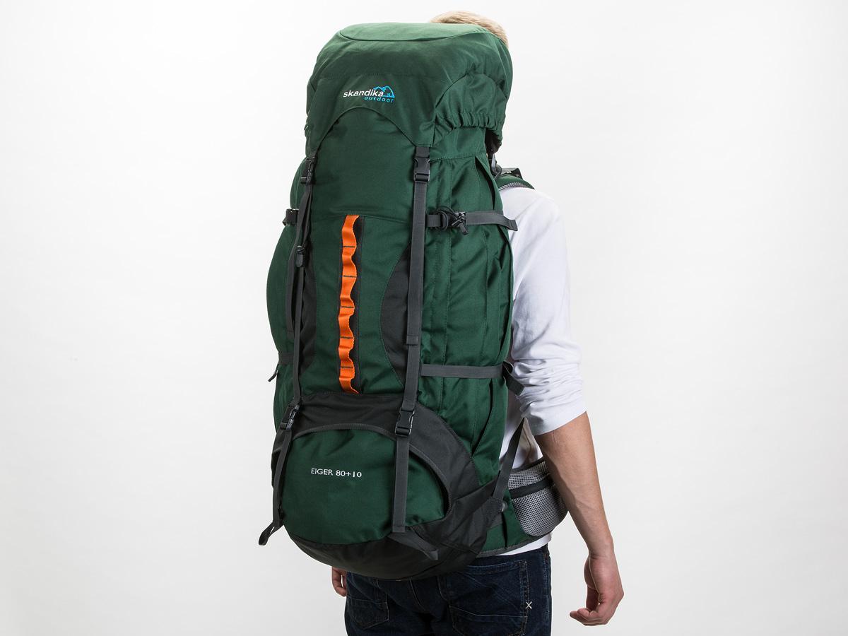 skandika Eiger 80+10 Litres Sac à dos Randonnée Trekking Marche Vert NEUF